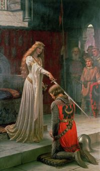accolade_by_edmund_blair_leighton